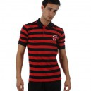 Tričko England - Stripe Polo Navy/Red